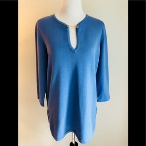 tory burch periwinkle tunic• size large